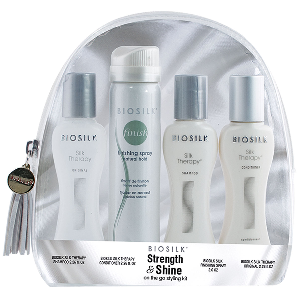 Strength & Shine Kit, Best Anti-Frizz Products to fight Humidity – Features BioSilk Styling Kit