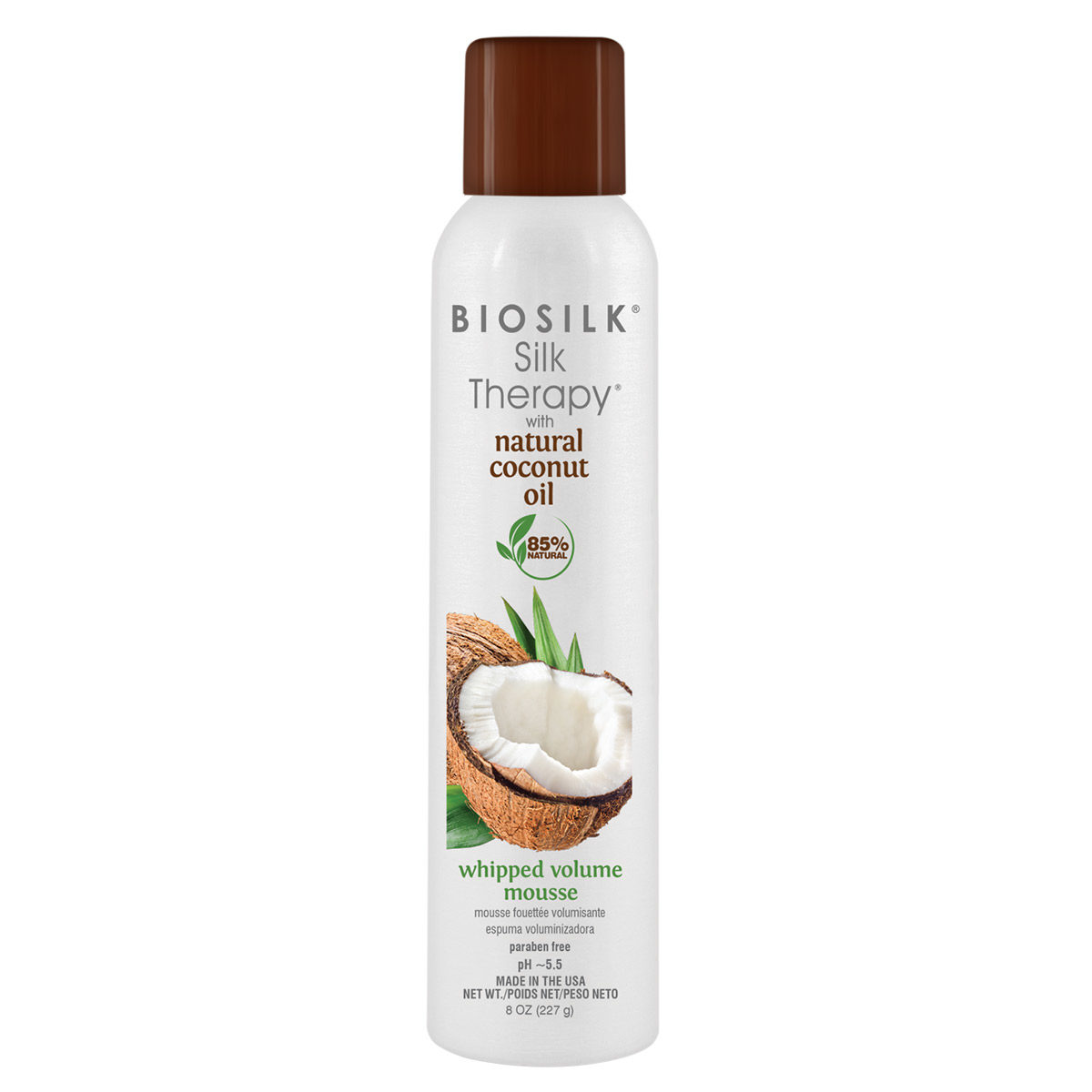 Silk Therapy with Natural Coconut Oil Whipped Volume Mousse