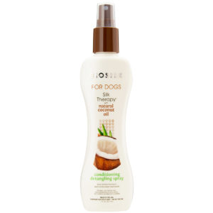 Biosilk for Dogs Silk Therapy Conditioning Detangling Spray with Natural Coconut Oil